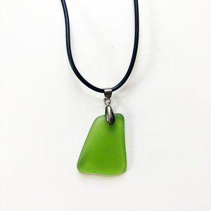 Artist Made Green Sea Glass Pendant Necklacea